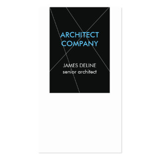 Arquiteto elegante minimalista cartão de visita