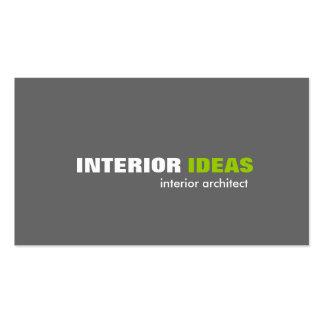 Arquiteto interior - cartões de visitas