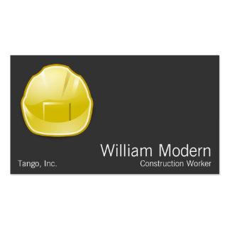 Arquiteto moderno da construção do capacete de cartão de visita