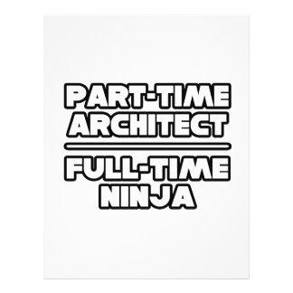 Arquiteto… Ninja Modelo De Panfletos