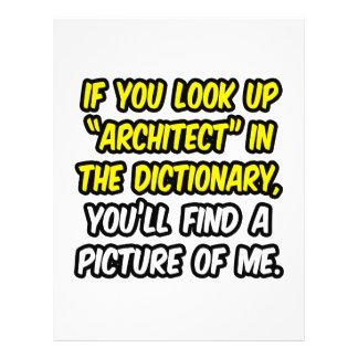 Arquiteto no dicionário… minha imagem panfletos