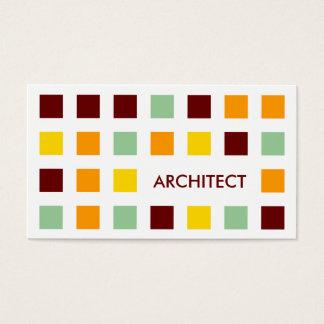 ARQUITETO (quadrados da modificação) Cartão De Visitas