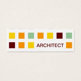 ARQUITETO (quadrados da modificação) Cartão De Visitas Mini
