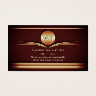 Arquitetos - bronze dado polimento art deco cartão de visitas