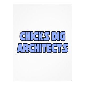 Arquitetos da escavação dos pintinhos modelo de panfleto