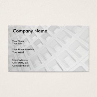 Arquitetura abstrata em preto e branco cartão de visitas