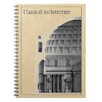 Arquitetura clássica do panteão personalizado cadernos espiral