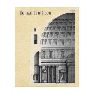 Arquitetura clássica do panteão romano impressão em tela