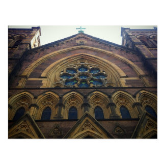 Arquitetura da igreja Católica do Lower Manhattan Cartão Postal