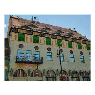 Arquitetura de Sighisoara Panfletos Personalizado