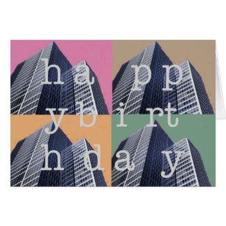 Arquitetura do cartão do feliz aniversario
