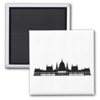 arquitetura do palácio do parlamento de budapest ímã quadrado
