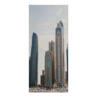 Arquitetura do porto de Dubai Panfleto