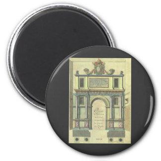 Arquitetura do renascimento da entrada de porta da ímã redondo 5.08cm
