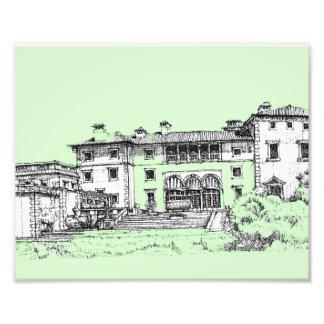 arquitetura do verde limão impressão de foto