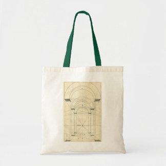 Arquitetura do vintage, arcos Perspecitve Sacola Tote Budget