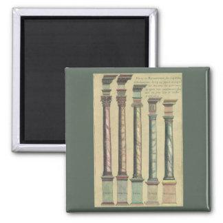 Arquitetura do vintage, as 5 ordens ímã quadrado
