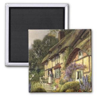 Arquitetura do vintage, casa da casa de campo do ímã quadrado