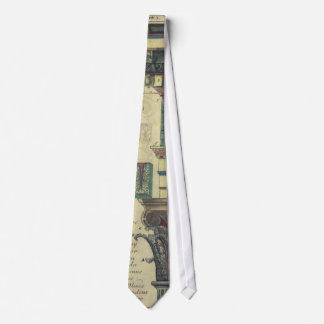 Arquitetura do vintage, coluna com molde do gravata