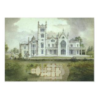 Arquitetura do vintage, convite francês do castelo