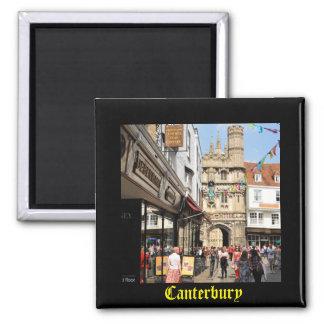 Arquitetura em Canterbury, Kent, Inglaterra Ímã Quadrado