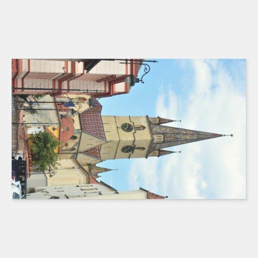 arquitetura evangélica de romania da igreja de adesivos retangulares