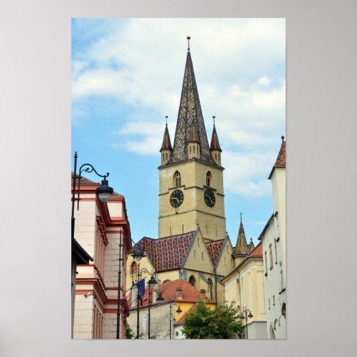arquitetura evangélica de romania da igreja de poster