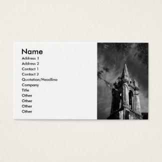 Arquitetura gótico cartão de visitas