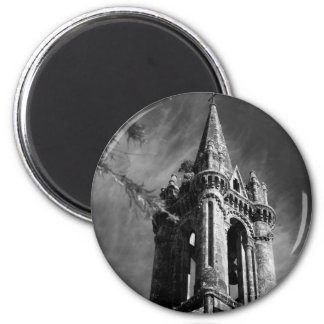 Arquitetura gótico ímã redondo 5.08cm