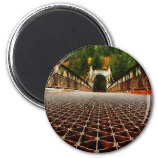 Arquitetura histórica da ponte da herança ímã redondo 5.08cm