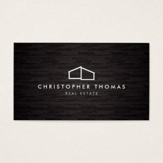 Arquitetura Home moderna do logotipo, madeira da Cartão De Visitas