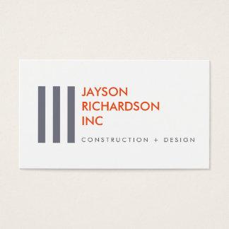 Arquitetura moderna simples, construção, design 1 cartão de visitas