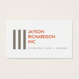 Arquitetura moderna simples, construção, design 4 cartão de visitas