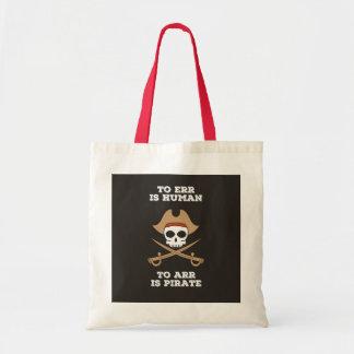 Arr gosta de um bolsa do pirata