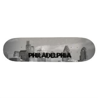 Arranha-céus de Philly preto e branco Skate Personalizado