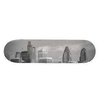 Arranha-céus de Philly preto e branco Skate