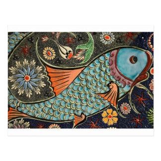 Arrelia dos peixes do mosaico cartão postal
