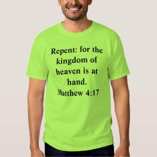 Arrependido: para o reino dos céus é à mão. Mães… T-shirt