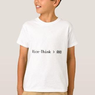 Arroz-Pense o roupa T-shirts