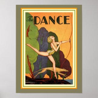 """Art deco """"a dança"""" 12 x poster 16"""