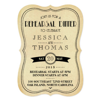 Art deco antigo do vintage que Wedding o jantar de Convite 12.7 X 17.78cm