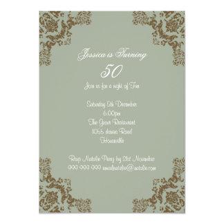 Art deco clássico convite 11.30 x 15.87cm