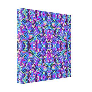 Art deco colorido de Excrutiatingly psicadélico Impressão Em Tela