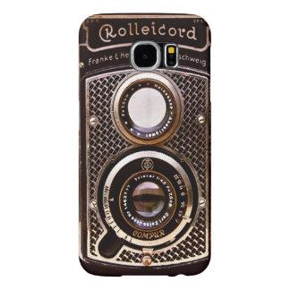 Art deco do rolleicord da câmera do vintage capas samsung galaxy s6