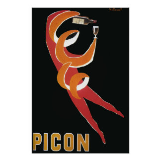Art deco do vintage por Bernard Villemot/Picon Poster