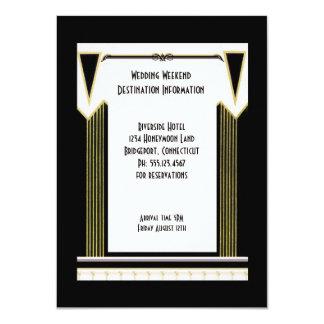 Art deco do vintage que Wedding a inserção do Convite 11.30 X 15.87cm