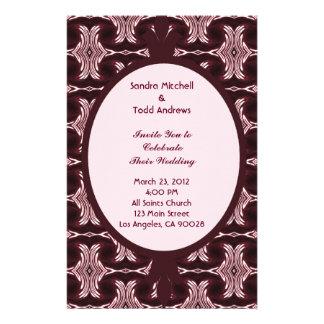 Art deco marrom que Wedding Papeis Personalizados