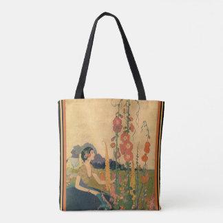 """Art deco """"menina o bolsa de um jardim"""""""
