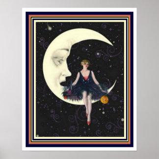 "Art deco ""partido na lua"" 16 x poster 20"
