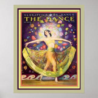 """Art deco """"que glorifica poster 16 x 20 da dança"""""""